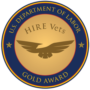 U.S. Department of Labor Gold Award for the HIRE Vets Program